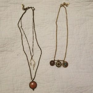 Lot of 2 lucky brand necklaces